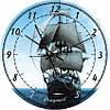 """Часы настенные """"Парусник"""" (450мм) [Стекло, Открытые]"""