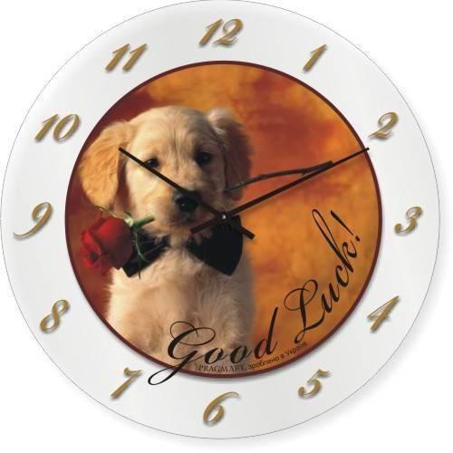 """Часы настенные """"Good Luck!"""" (450мм) [Стекло, Открытые]"""
