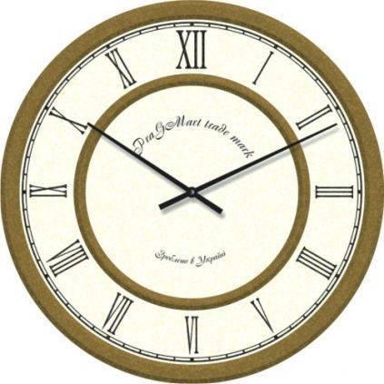 """Часы настенные """"Римские цифры 2"""" (450мм) [Стекло, Открытые]"""
