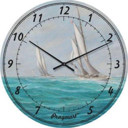 """Часы настенные """"Парусики"""" (450мм) [Стекло, Открытые]"""