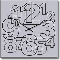 """Большие настенные часы """"Большие арабские цифры"""" (500мм) [Стекло]"""