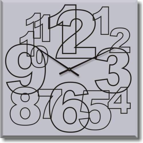 """Большие настенные часы """"Большие арабские цифры"""" (500мм) [Стекло, Открытые]"""