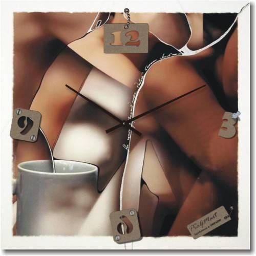 """Кухонные настенные часы """"Абстракция"""" (500мм) [Стекло, Открытые]"""