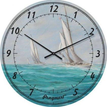 """Часы настенные """"Парусики"""" (300мм) [Стекло, Открытые]"""