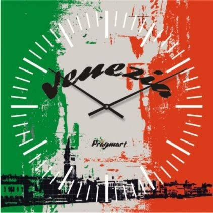 """Часы настенные большие """"Флаг Венеции"""" (500мм) [Стекло, Открытые]"""