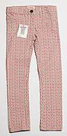 Детские весенние джинсы для девочки розовые р.116