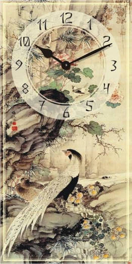 "Часы настенные ""Фен-шуй-1"" (225х450мм) [Стекло, Открытые]"