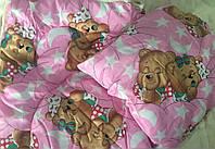 Детское  одеяло в комплекте с подушкой в мультяшный принт в ассортименте