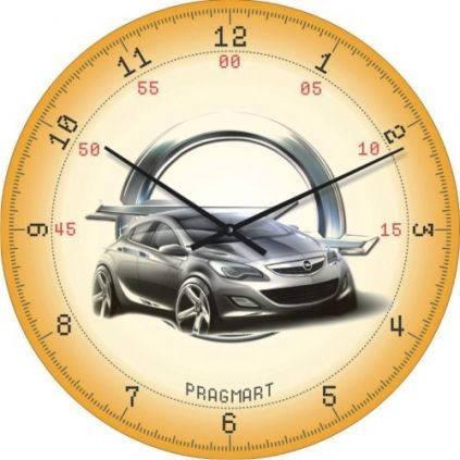 """Часы настенные """"Opel"""" (450мм) [Стекло, Открытые]"""