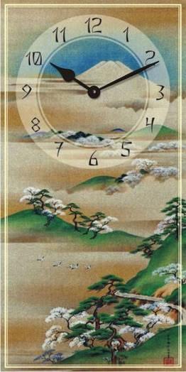 "Часы настенные ""Фен-шуй-3"" (225х450мм) [Стекло, Открытые]"