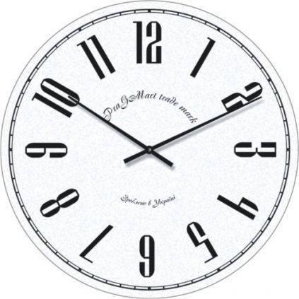 """Часы настенные большие """"Арабские цифры"""" (450мм) [Стекло, Открытые]"""