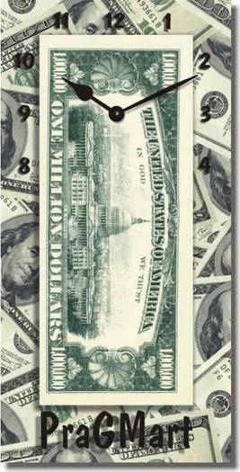 """Часы настенные """"Миллион долларов"""" (225х450мм) [Стекло, Открытые]"""
