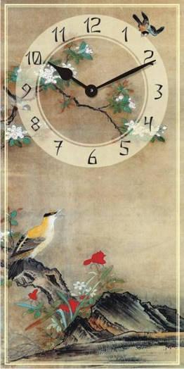 "Часы настенные ""Фен-шуй-5"" (225х450мм) [Стекло, Открытые]"