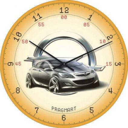 """Детские настенные часы """"Opel"""" (300мм) [Стекло, Открытые]"""