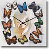 """Большие настенные часы """"Хоровод бабочек"""" (500мм) [Стекло, Открытые]"""