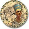 """Часы настенные большого размера """"Египетская королева Нифертити"""" (450мм) [Стекло, Открытые]"""