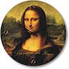 """Часы настенные большого размера """"Мона Лиза - Леонардо да Винчи"""" (450мм) [Стекло, Открытые]"""