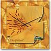 """Большие настенные часы """"Тигровая лилия"""" (500мм) [Стекло, Открытые]"""
