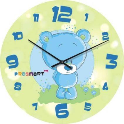 """Часы настенные детские """"Мишутка"""" (450мм) [Стекло, Открытые]"""