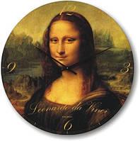"""Часы настенные """"Мона Лиза - Леонардо да Винчи"""" (300мм) [Стекло, Открытые]"""