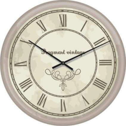 """Часы настенные """"Римские цифры 4"""" (300мм) [Стекло, Открытые]"""
