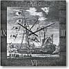 """Часы настенные """"Морской фрегат"""" (350мм) [Стекло, Открытые]"""