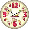"""Часы настенные детские """"Смешные человечки"""" (450мм) [Стекло, Открытые]"""
