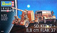 Немецкий тягач Sd.Kfz.7 и зенит. орудие 88 мм Flak 37 (1937 г.- 1938 г. Германия), 1:72, Revell