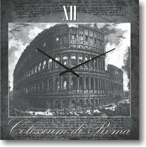 """Часы настенные большого размера """"Коллизей в Риме"""" (450мм) [Стекло, Открытые]"""