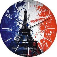 """Часы настенные """"Флаг Франции"""" (300мм) [Стекло, Открытые]"""