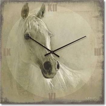 """Часы настенные """"Белая"""" (300мм) [Стекло, Открытые]"""