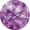 """Большие настенные часы """"Сиреневая нежность"""" (450мм) [Стекло, Открытые]"""