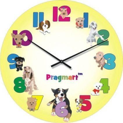 """Часы настенные детские """"Веселые собаки"""" (450мм) [Стекло, Открытые]"""