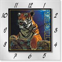 """Часы настенные """"Тигр"""" (450мм) [Стекло, Открытые]"""