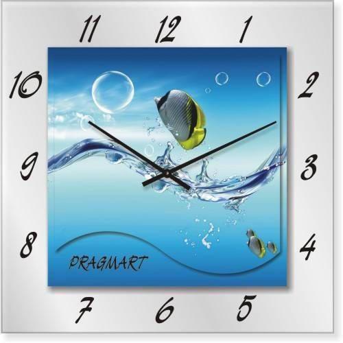 """Часы настенные """"Вода"""" (350мм) [Стекло, Открытые]"""