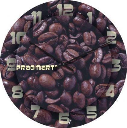 """Кухонные настенные часы """"Зерна кофе"""" (450мм) [Стекло, Открытые]"""