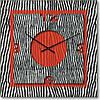 "Часы настенные ""Красный акцент"" (450мм) [Стекло, Открытые]"