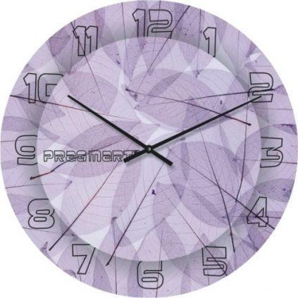 """Большие настенные часы """"Кружево из листьев"""" (450мм) [Стекло, Открытые]"""
