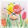 """Большие настенные часы """"Тюльпан"""" (500мм) [Стекло, Открытые]"""