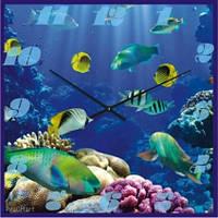 """Часы настенные """"Под водой"""" (350мм) [Стекло, Открытые]"""