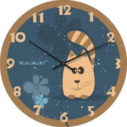 """Часы настенные детские """"Котейко"""" (450мм) [Стекло, Открытые]"""