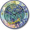 """Часы настенные большого размера """"Ирисы - Винсент Ван Гог"""" (450мм) [Стекло, Открытые]"""