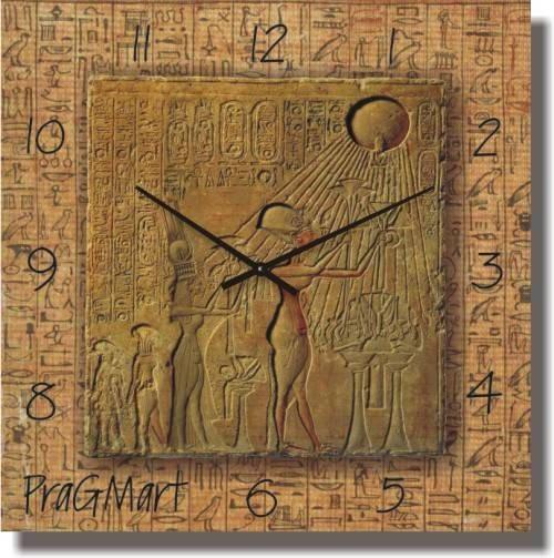 """Часы настенные большого размера """"Фреска египетская"""" (450мм) [Стекло, Открытые]"""