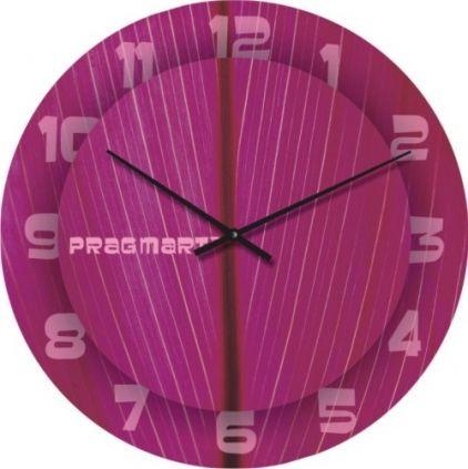 """Большие настенные часы """"Тонкая штриховка"""" (450мм) [Стекло, Открытые]"""