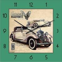 """Часы настенные """"Ретро-Автомобиль-1"""" (300мм) [Стекло, Открытые]"""