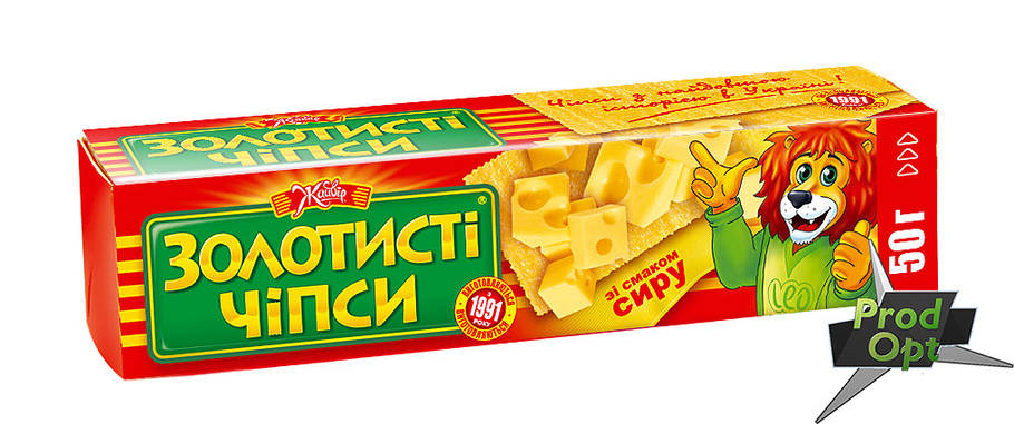 "Чіпси ""Золотисті"" сир 50 г , фото 2"