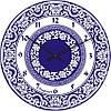 """Часы настенные большие """"Синяя роспись"""" (450мм) [Стекло, Открытые]"""