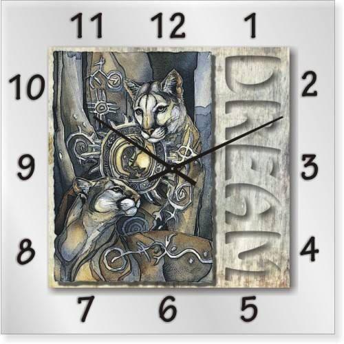"""Часы настенные """"Коты"""" (350мм) [Стекло, Открытые]"""