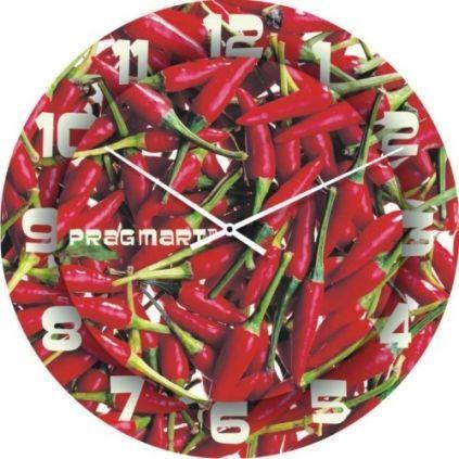 """Кухонные настенные часы """"Огонек"""" (300мм) [Стекло, Открытые]"""