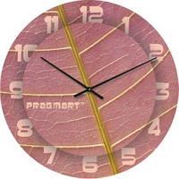 """Большие настенные часы """"Розовый лист"""" (450мм) [Стекло, Открытые]"""